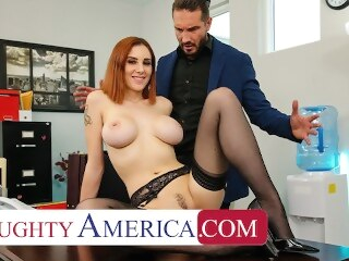 Naughty America - Lilian Stone drains her boss' balls to help relieve his stress vlxx naughtyoffice boobs redhead